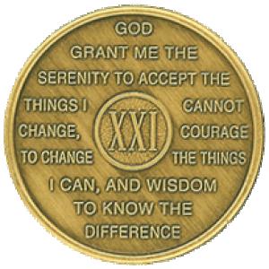 year 21 medallion